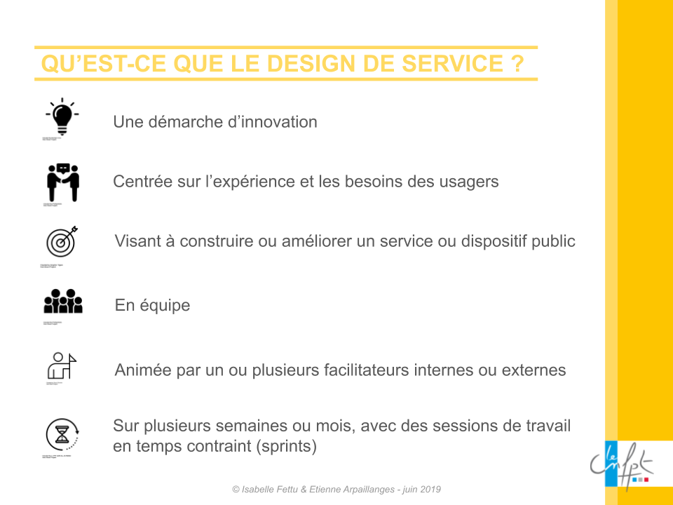 Une définition simple du design de service